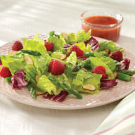 Spring Bouquet Salad with Raspberry Vinaigrette