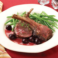 Lamb Chops in Cherry and Brandy Sauce
