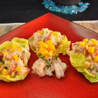 Mango Lobster n Rock Shrimp Salad in Lettuce Cups
