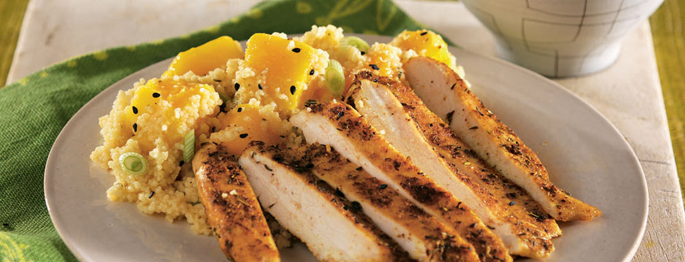 Photo of Jamaican Chicken with Pineapple Mango Couscous