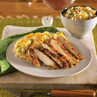 Jamaican Chicken with Pineapple Mango Couscous