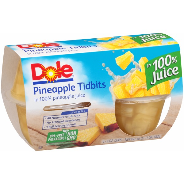 6/4 Pk/4 Oz. Pineapple Tidbits In Jce