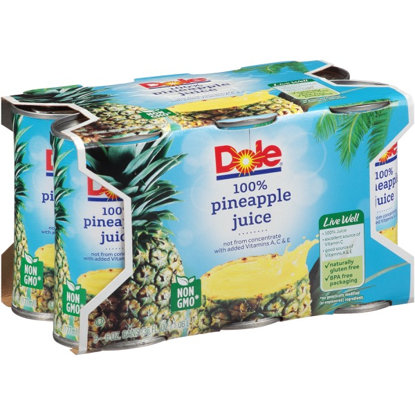 8/6 Pk/6 Oz. Pineapple Juice