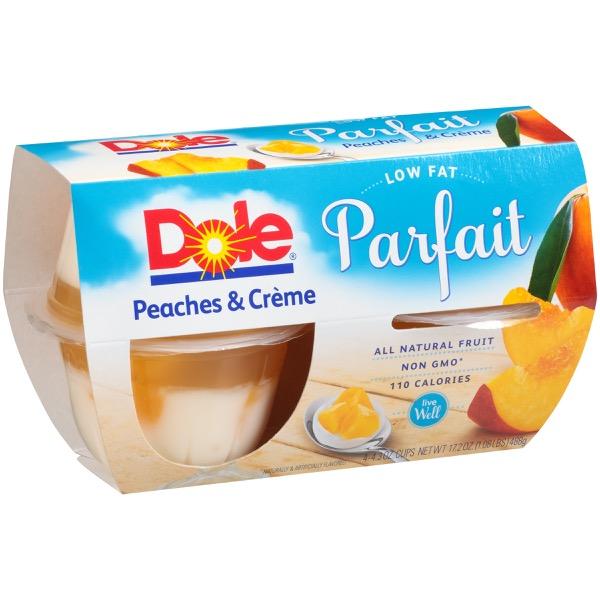 6/4 Pk/4.3 Oz. Peaches & CrÈme Fruit Parfait