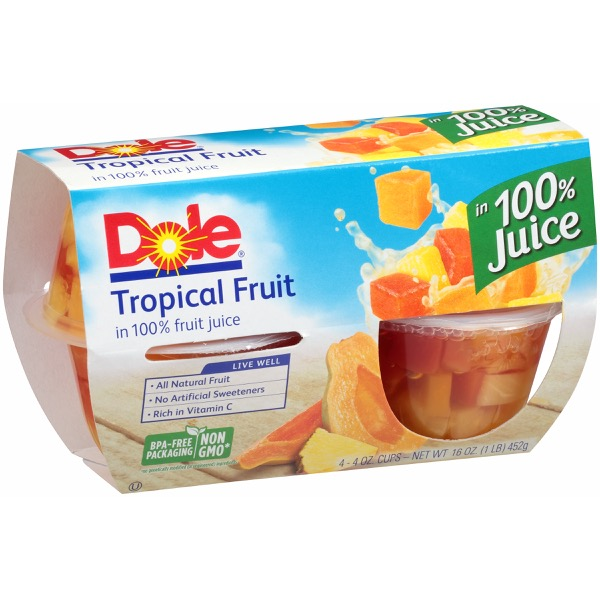 6/4 Pk/4 Oz. Tropical Fruit In Jce
