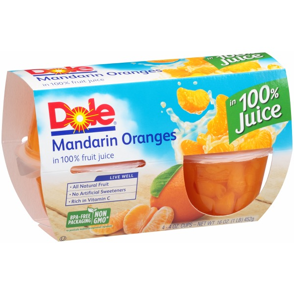 6/4 Pk/4 Oz. Mandarins In Jce