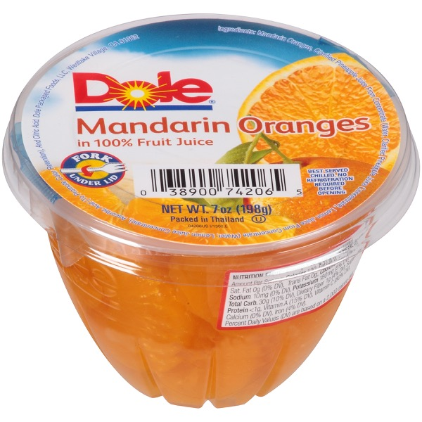 12/7 Oz. Mandarins In 100% Fruit Juice