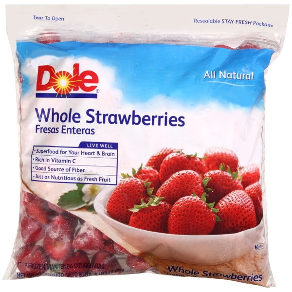 2/5# Strawberries, Whole IQF