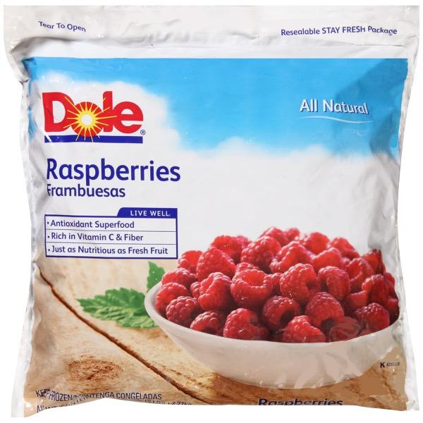 2/5# Raspberries, Whole IQF