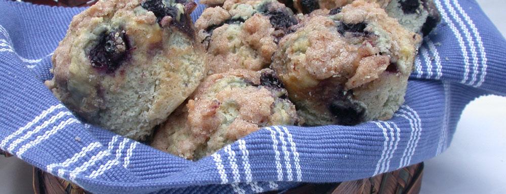 Photo of Blueberry Cinnamon Muffins