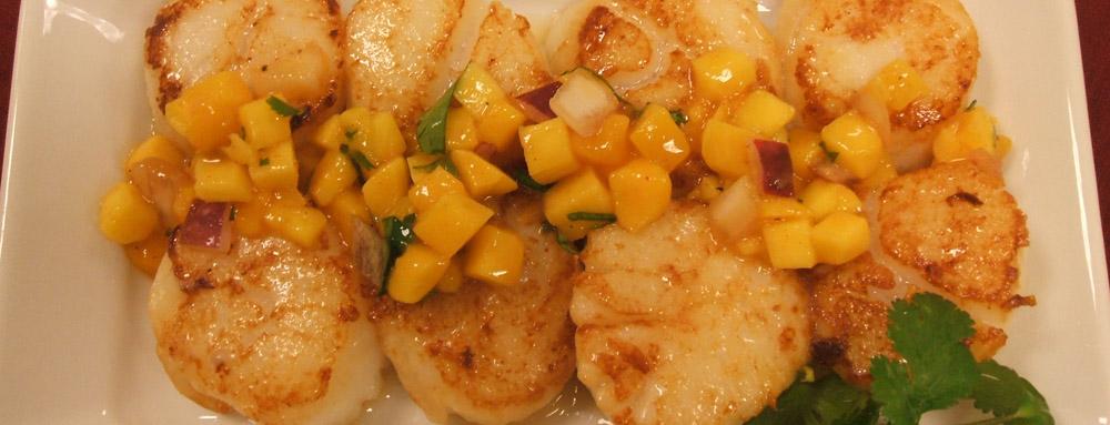 Photo of Seared Wasabi Mango Scallops