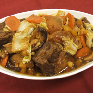 Braised Short Ribs with Napa Cabbage and Pineapple