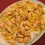 Sauteed Chicken with Lemongrass and Pineapple