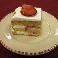 Japanese Strawberry Cake with Sake Drizzle