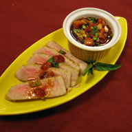 Sake Seared Tuna with Strawberry Salsa