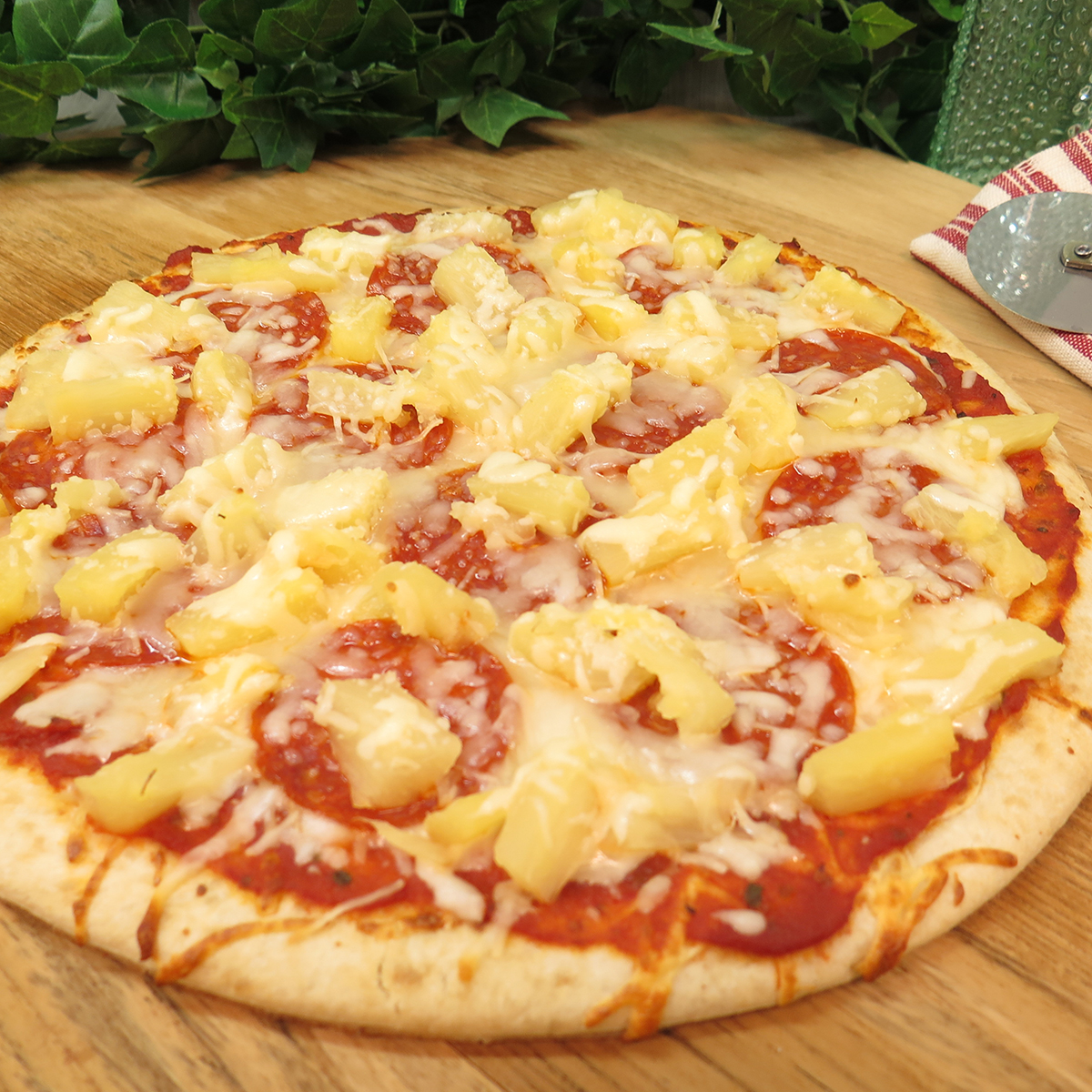 Pineapple Pepperoni Pizza