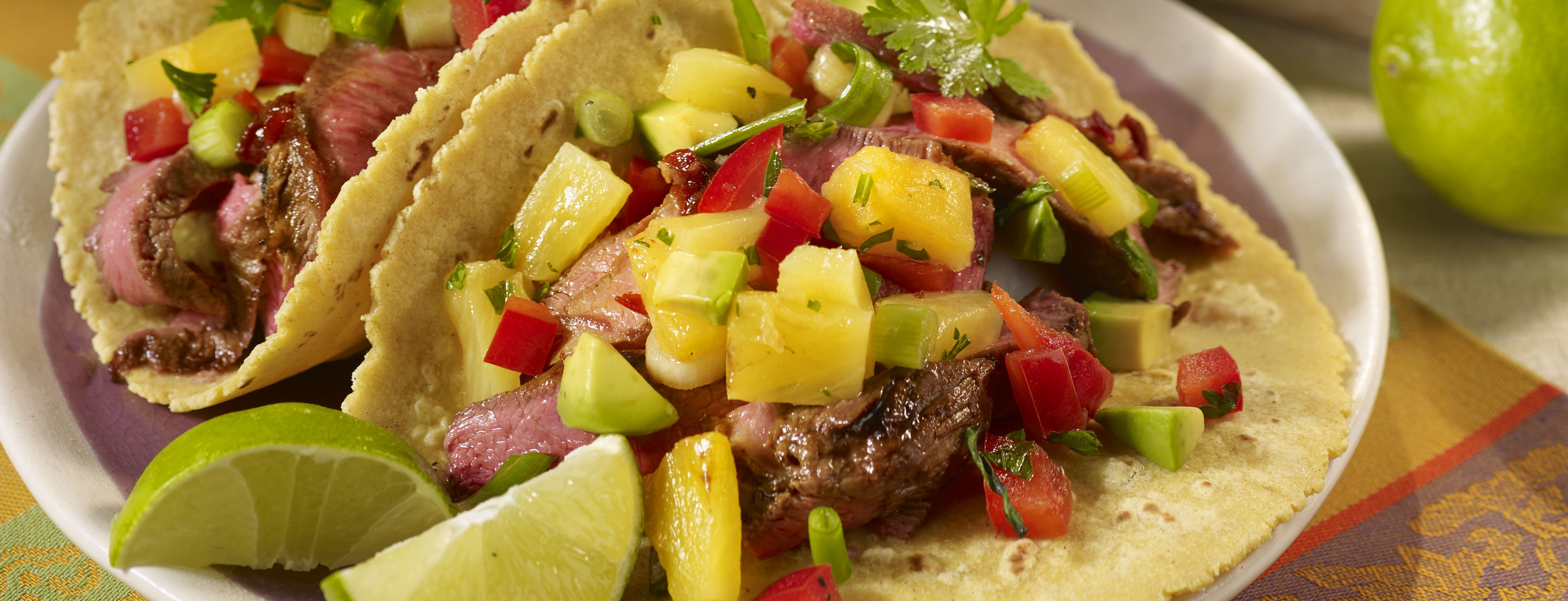 Photo of Chipotle Steak Tacos with Pineapple Avocado Salsa