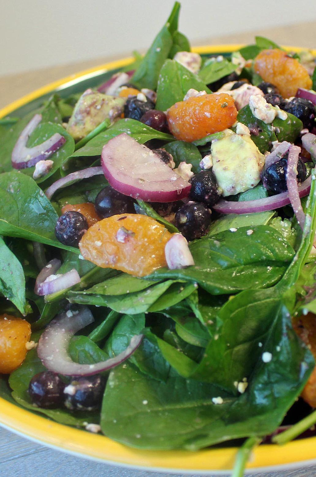 Photo of Blueberry Mandarin Spinach Salad Bowl