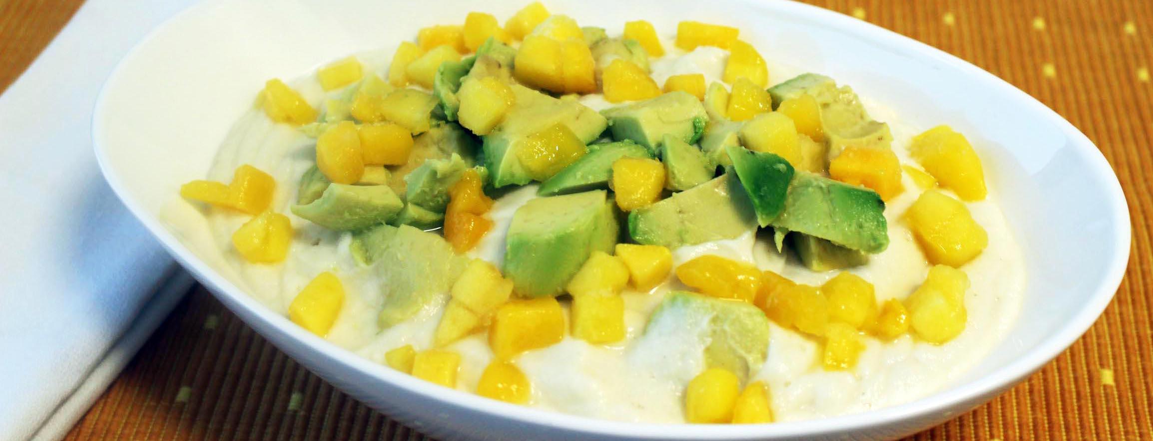 Photo of Mashed Cauliflower Bowl with Mango and Avocado