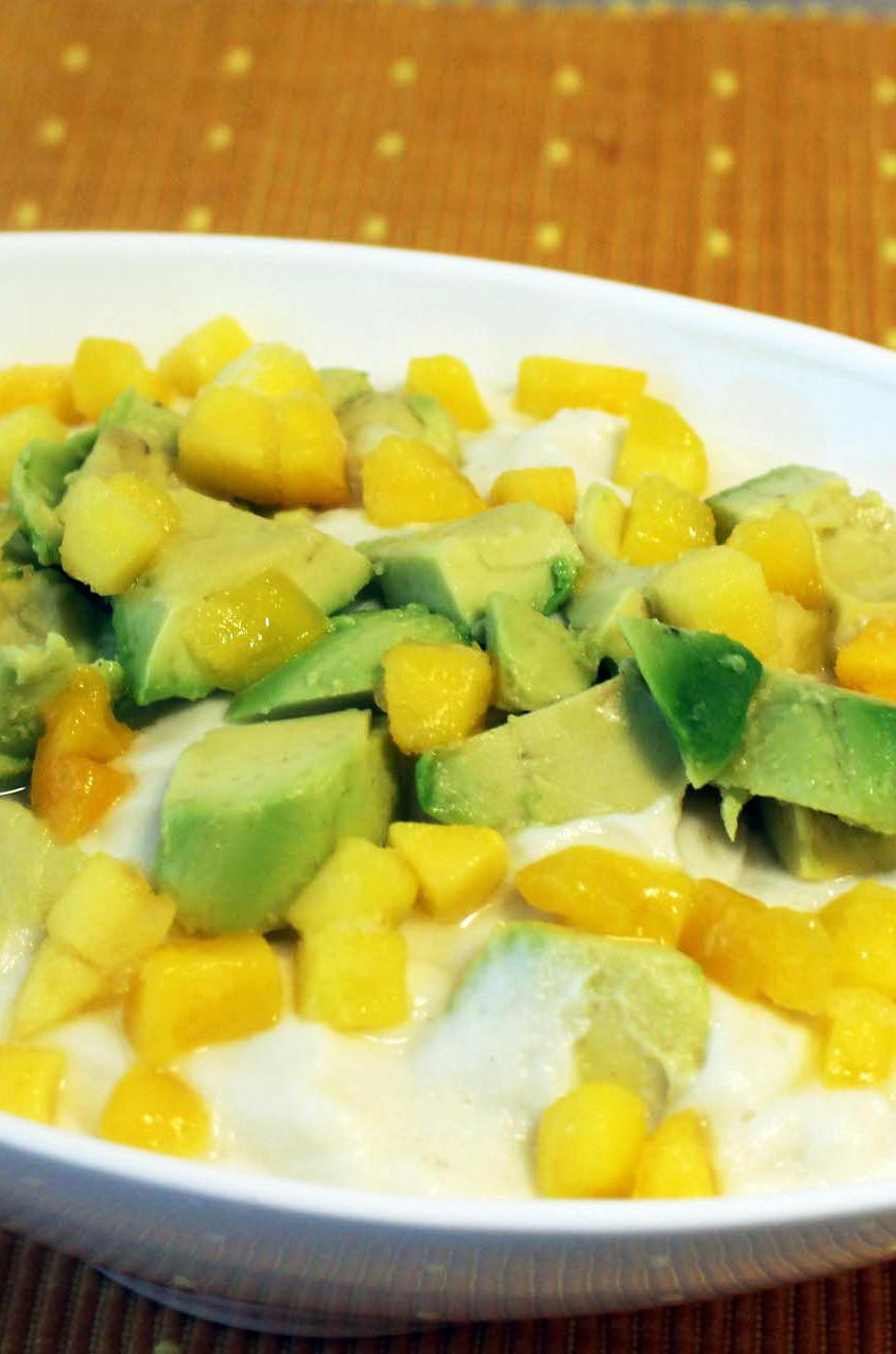 Photo of Mashed Cauliflower Bowl with Mango and Avocado