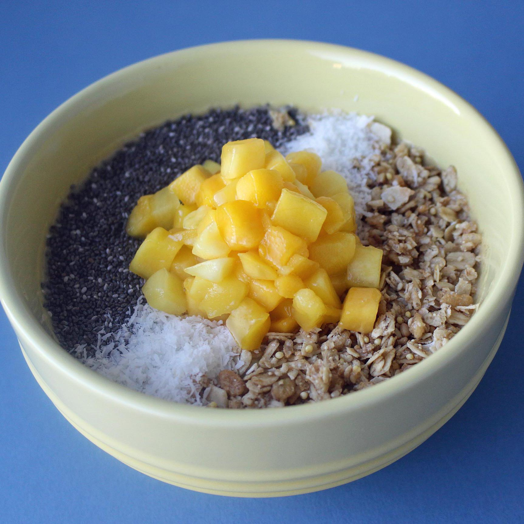 Mango and Chia Smoothie Bowl