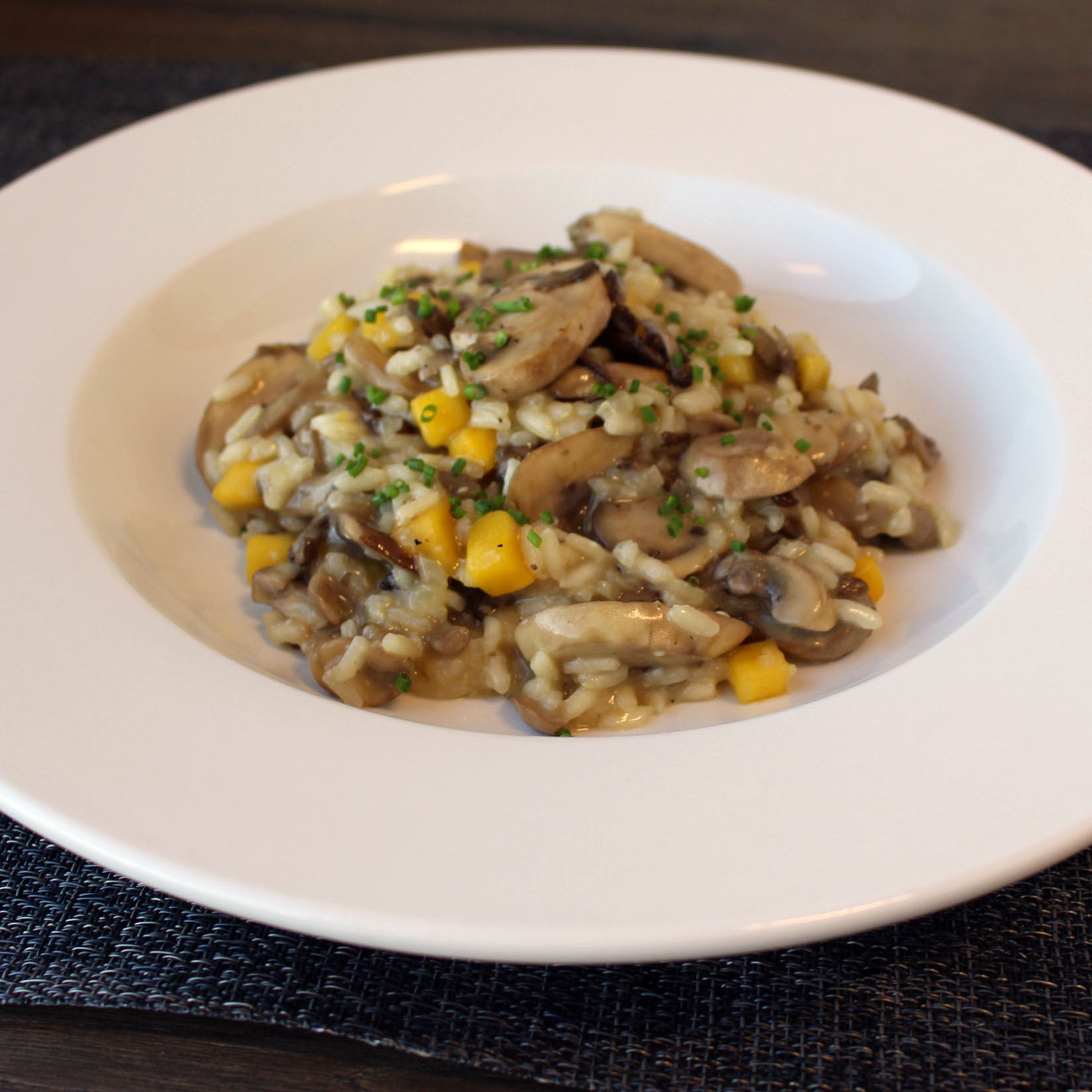 Mango and Mushroom Risotto Bowl