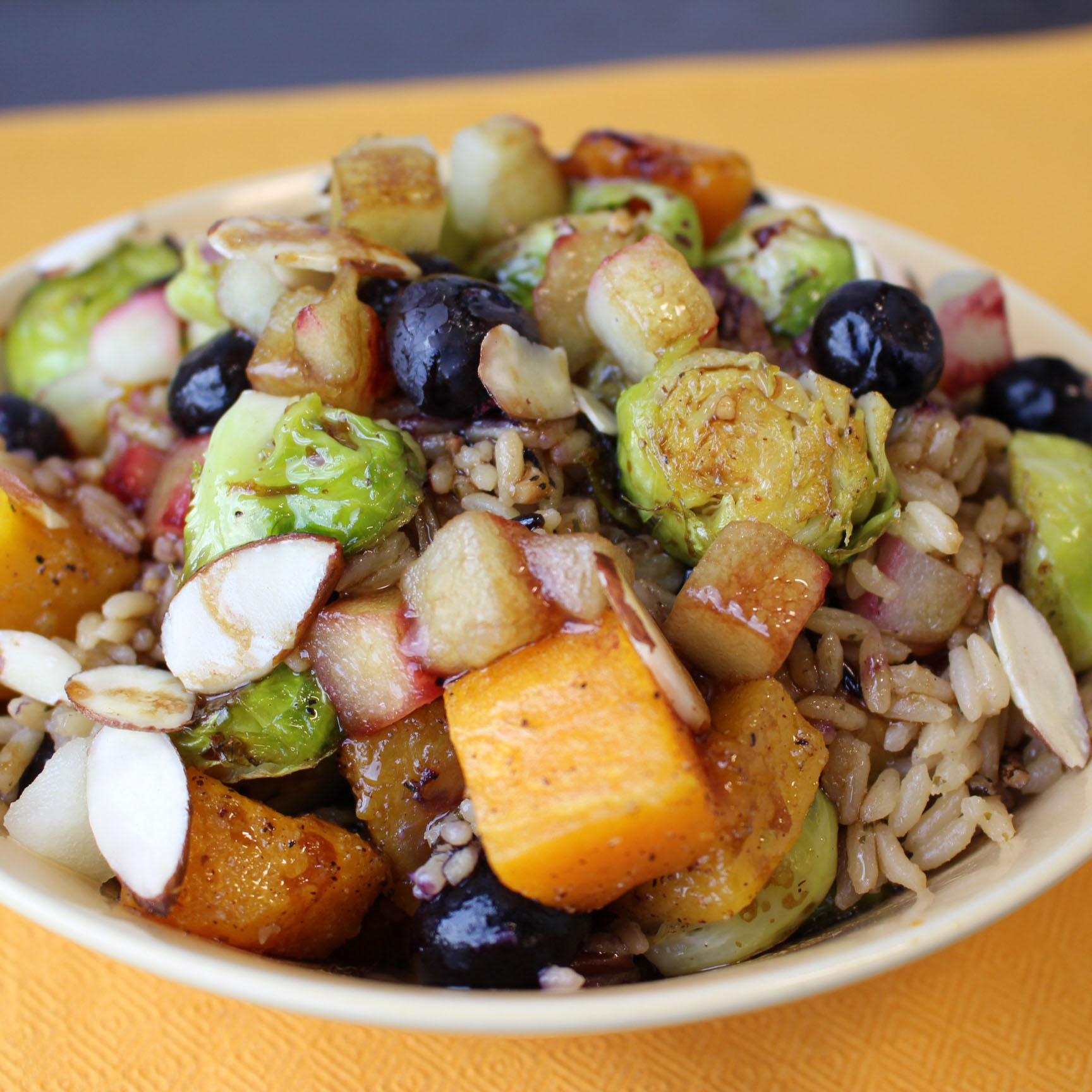 Wild Rice and Blueberry Harvest Bowl