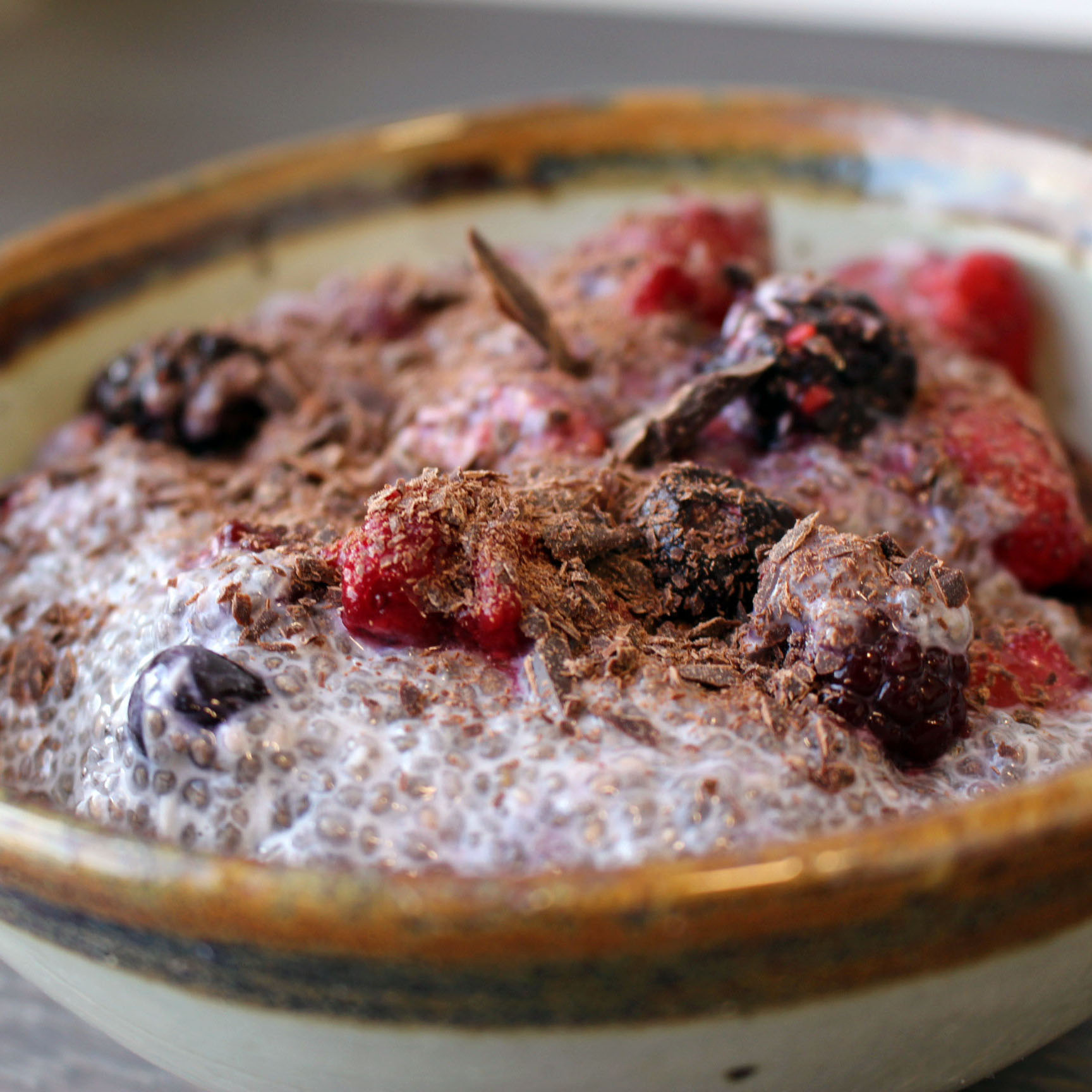 Berry Coconut Chia Pudding Bowl