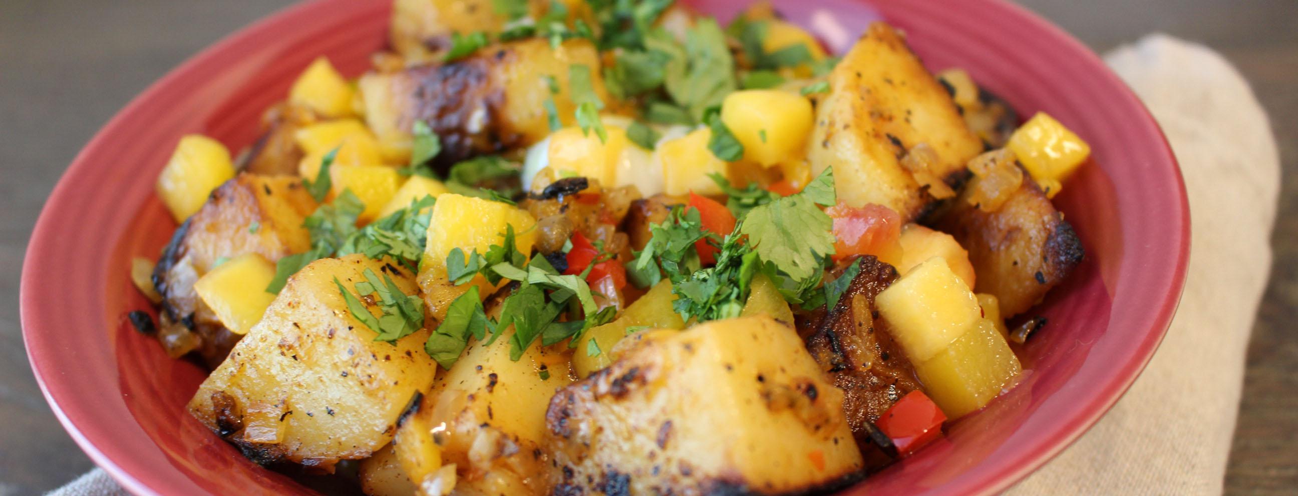 Photo of Potato and Peach Hash Breakfast Bowl