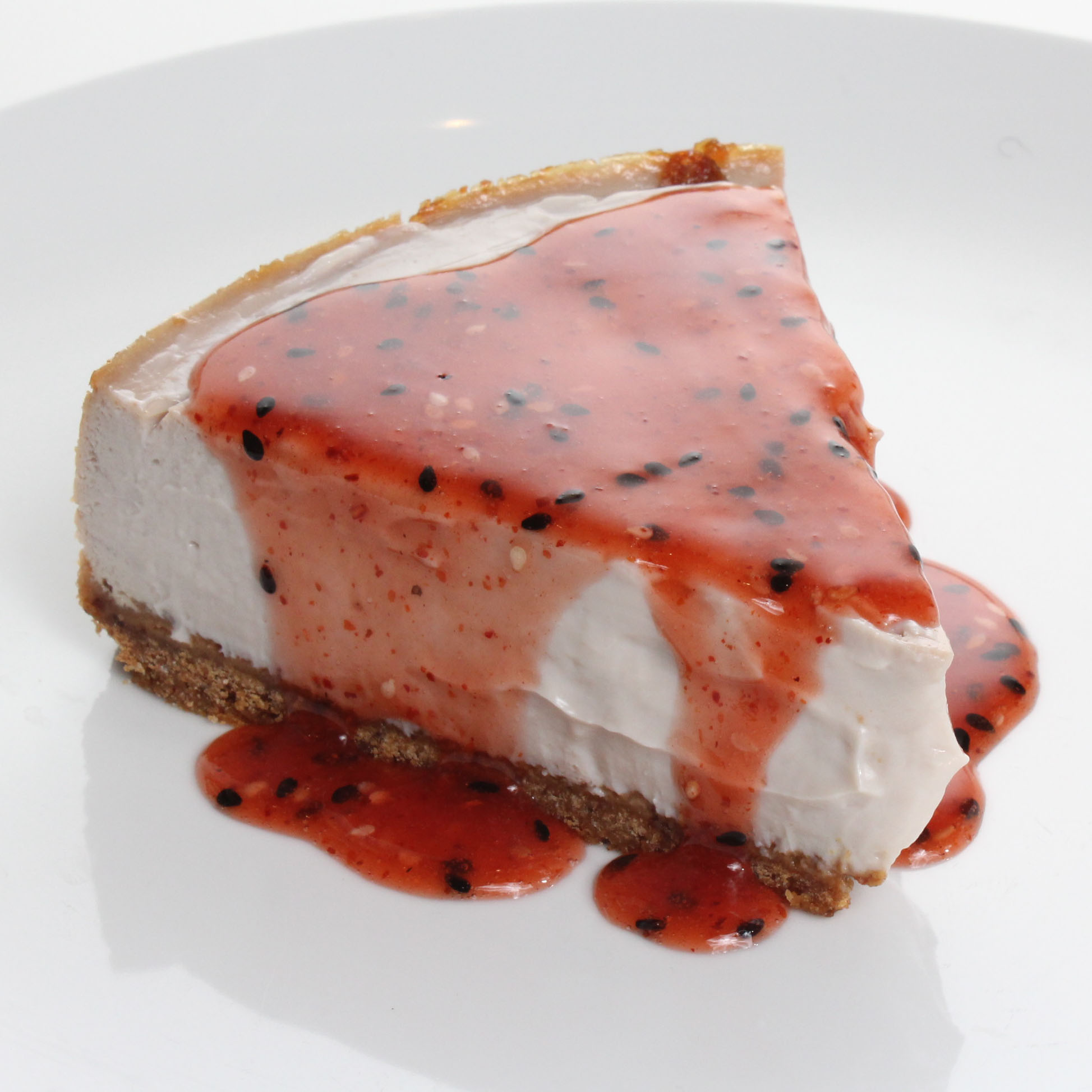 Strawberry Togarashi Tofu Cheesecake