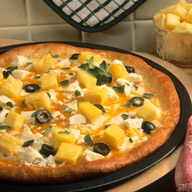 Three Cheese Pineapple Pizza
