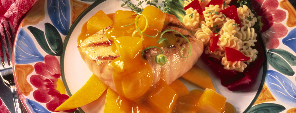 Photo of Grilled Sea Bass with Pineapple Guava Sauce