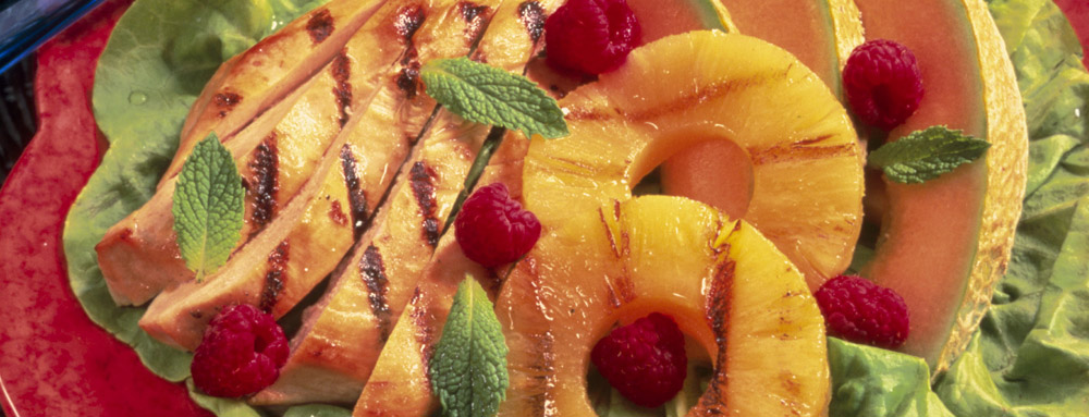Photo of Grilled Chicken and Fruit Salad with Pineapple Mint Dressing