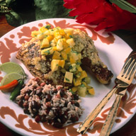 Jerk Chicken with Pineapple Mango Salsa