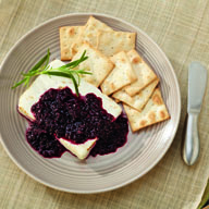 Baked Feta with Blackberry and Rosemary Compote