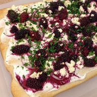 Blackberry and Feta Herb Pizza