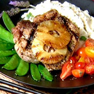 Caribe Pork Chops and Grilled Pineapple
