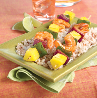 Chipotle shrimp pineapple kabobs