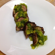 Coffee Rubbed Pork Tenderloin with Chunky Pineapple Chimichurri