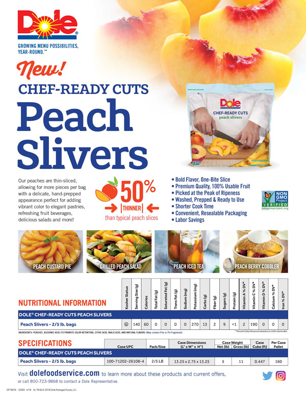 Dole crc peach slivers ss