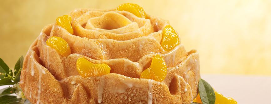 Photo of Glazed Orange Rose Cake