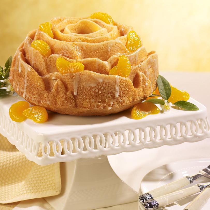 Glazed Orange Rose Cake