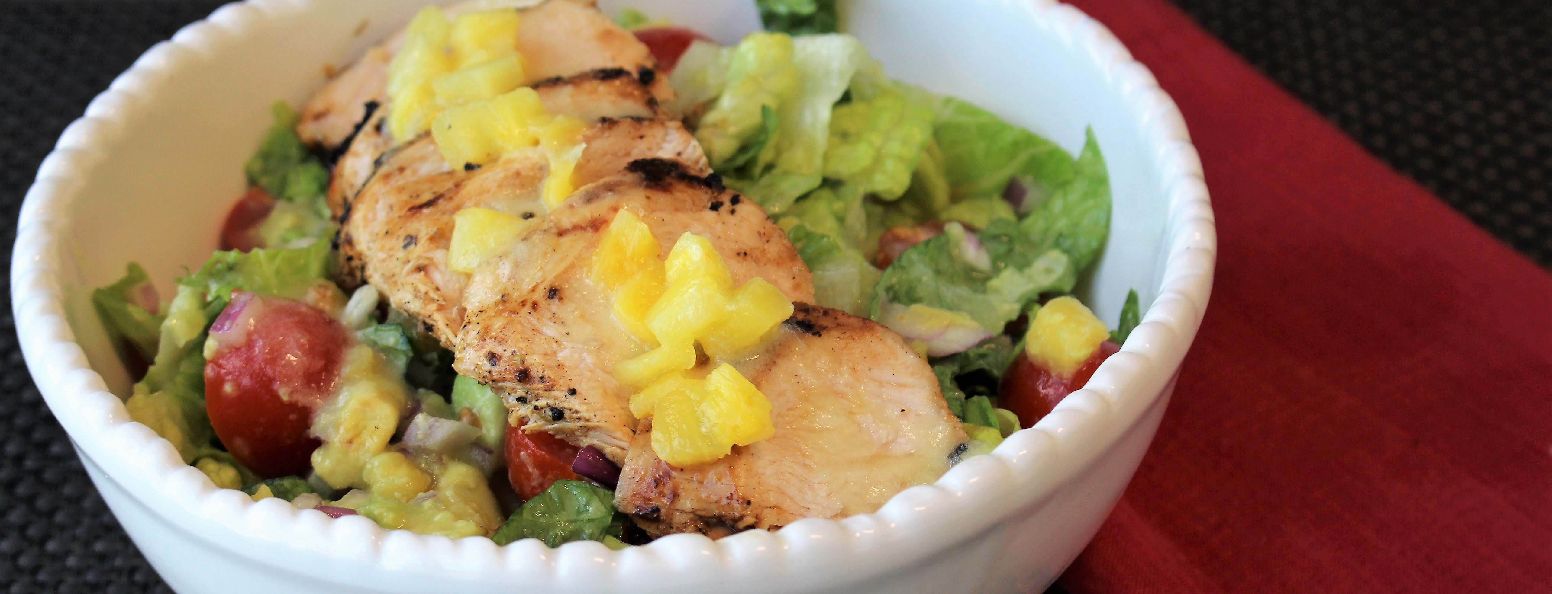 Photo of Grilled Piri Piri Chicken Pineapple Salad Bowl