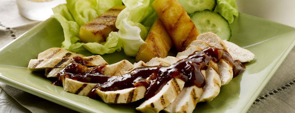 Photo of Grilled Teriyaki Pineapple Spears with Chicken