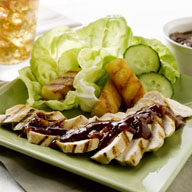 Grilled Teriyaki Pineapple Spears with Chicken
