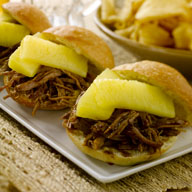 Hawaiian Sliders with Pineapple