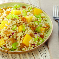 Mango Couscous Salad with Cumin Mango Dressing