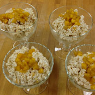 Mango Ginger Couscous Pudding