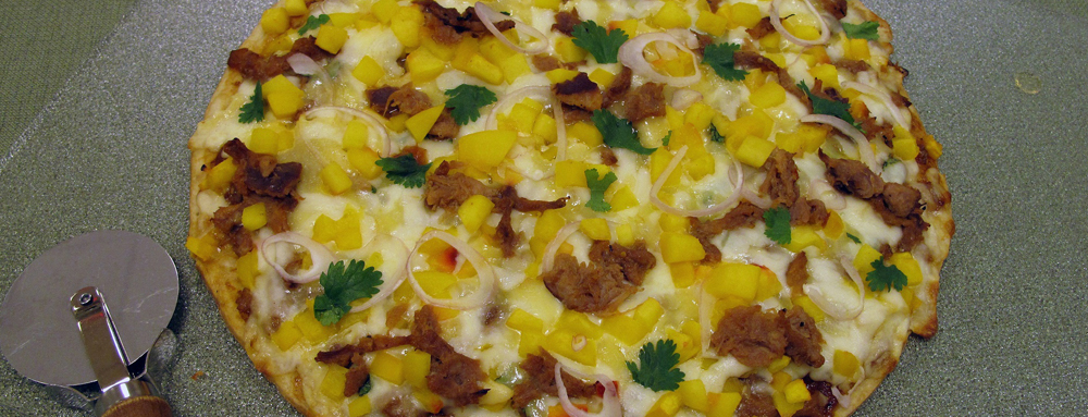Photo of Peach Chipotle Barbacoa Pizza