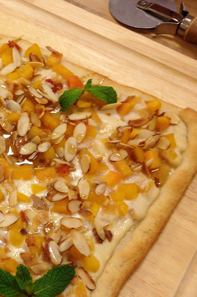 Photo of Peach and Almond Breakfast Pizza